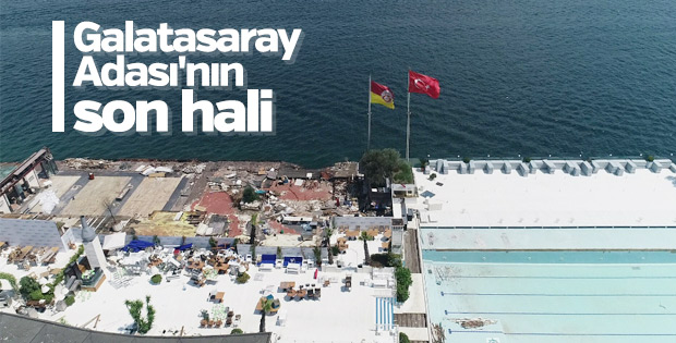 Galatasaray Adası'nda son durum havadan görüntülendi