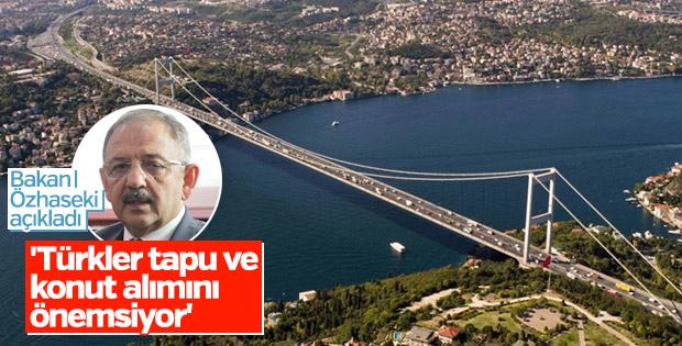 Özhaseki: Türkler tapu ve konut alımına önem veriyor
