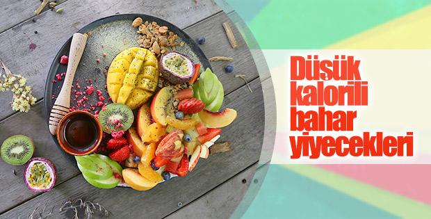 Düşük kalorili bahar yiyecekleri