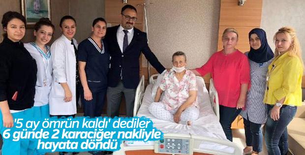 Ankara'da yaşlı kadın 2 karaciğer nakliyle hayata tutundu