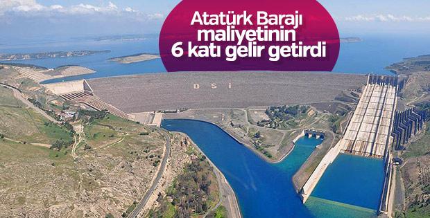 Atatürk Barajı ülke ekonomisine katkı sağladı