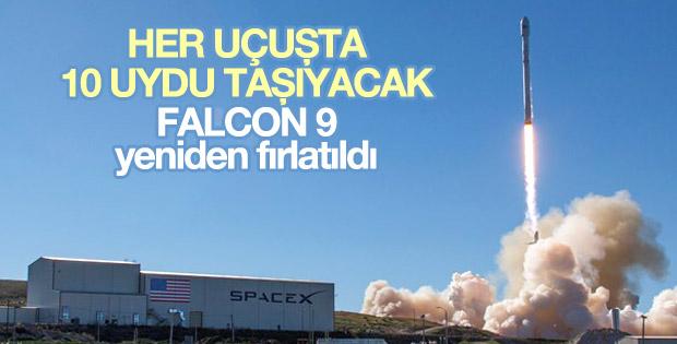 Falcon 9 roketi yeniden fırlatıldı