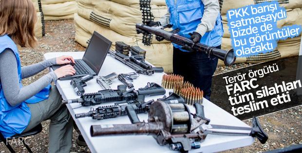 Kolombiya'da terör örgütü FARC silahlarının tamamını teslim etti