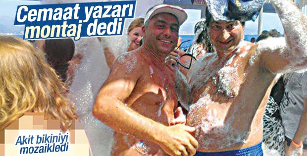 Cemaatçi yazar Faruk Arslan'ın köpük partisi fotoğrafı