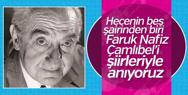 Hecenin beş şairinden biri Faruk Nafiz Çamlıbel'den alıntılanmış şiirler