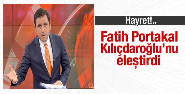 Fatih Portakal Kılıçdaroğlu'nun açıklamalarını eleştirdi