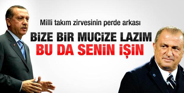 Başbakan Erdoğan Terim'i nasıl ikna etti