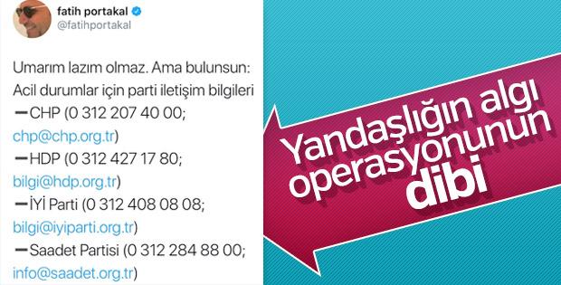Fatih Portakal'dan oylar çalınıyor algısı