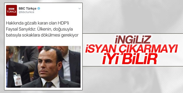 HDP'li Faysal Sarıyıldız sokak çağrısı yaptı