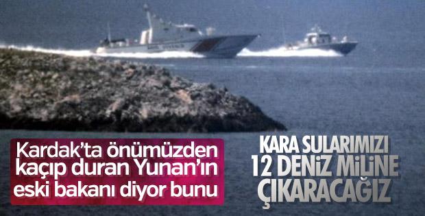 Kocyas: Yunanistan kara sularını 12 mile çıkarmaya hazır