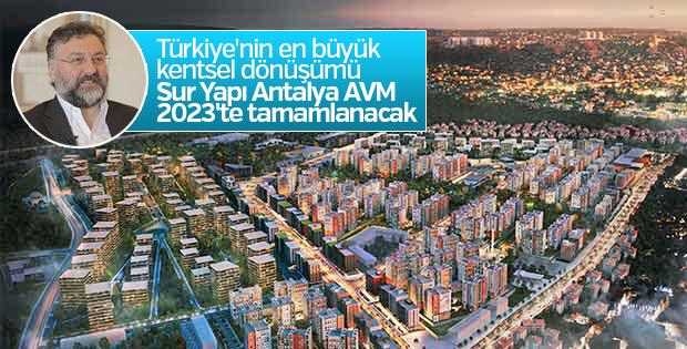 Sur Yapı Antalya AVM 2023'te tamamlanacak