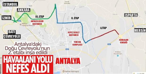 Antalya'daki Doğu Çevreyolu'nda 2. etap tamamlandı