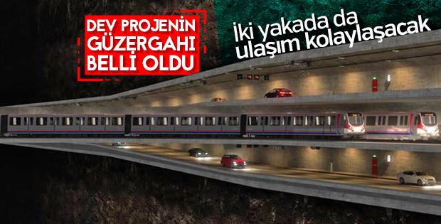 3 katlı büyük İstanbul tünelinin güzergahı belirlendi