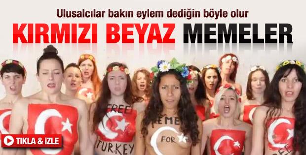 FEMEN'den Gezi Parkı eylemine destek - izle