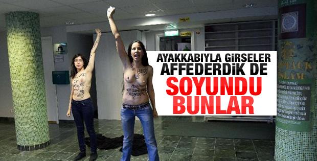 FEMEN bu defa camide soyundu