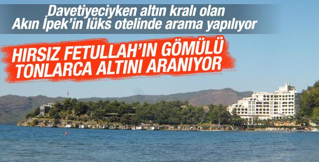 Koza-İpek Grubu'nun otel arazisinde arama