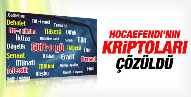 Takvim Gülen'in kullandığı kelimeleri tercüme etti