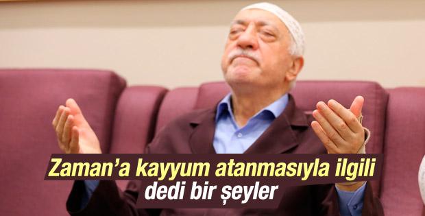 Fethullah Gülen'den Zaman'a kayyum sonrası ilk açıklama