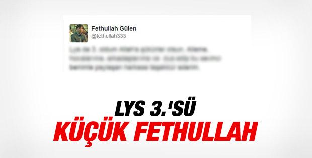 Fethullah Gülen LYS'de 3. oldu