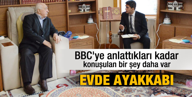 Fethullah Gülen'in BBC röportajından bir kare