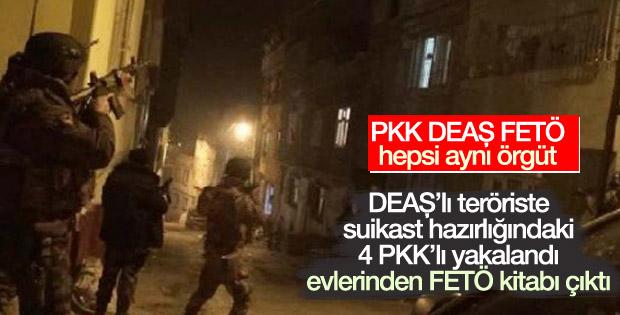 PKK'lıların evinden FETÖ kitabı çıktı