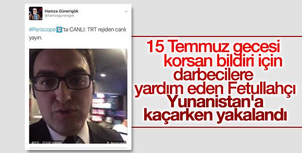 TRT'nin eski spikeri Yunanistan'a kaçarken yakalandı