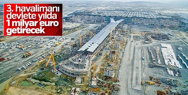 3. havalimanının kirası 1 milyar euro
