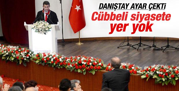 Danıştay töreni gazetecilere ve Feyzioğlu'na kapattı