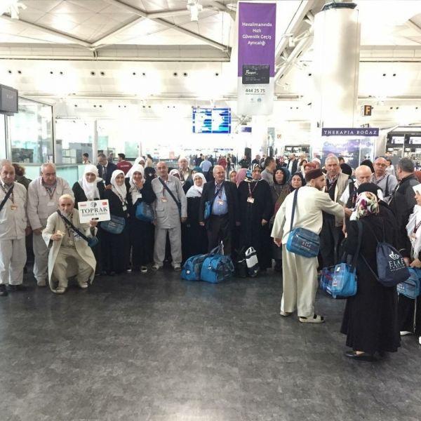 Umre sezonunun açıldı, ilk grup havalimanından uğurlandı
