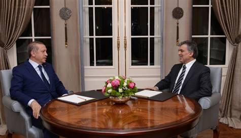 Cumhurbaşkanı Gül ile Başbakan Erdoğan Köşk'te görüştü