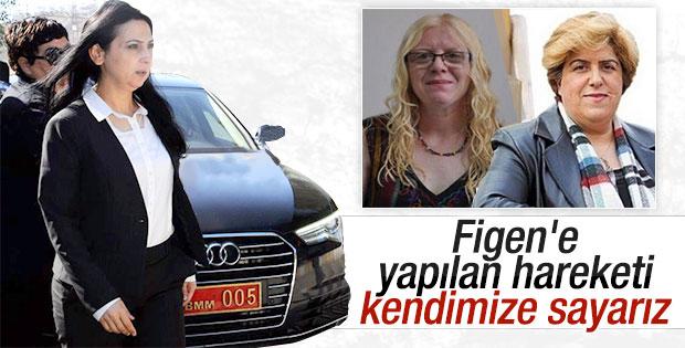 HDP'li kadınlar Figen Yüksekdağ'a sahip çıktı