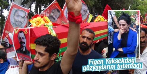 Figen Yüksekdağ Halil Aksakal'ın cenazesinde ağladı