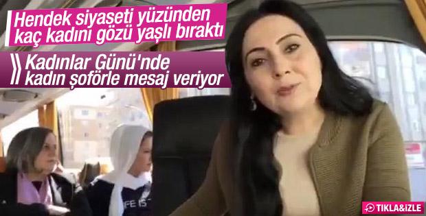 Yüksekdağ'dan kadın şoförle Kadınlar Günü mesajı