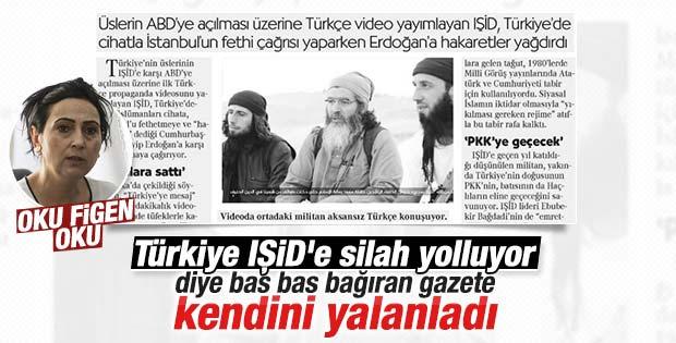 Cumhuriyet IŞİD manşetiyle kendini yalanladı