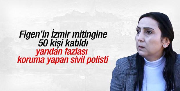 İzmir'de Figen Yüksekdağ'ın konuşması ilgi görmedi