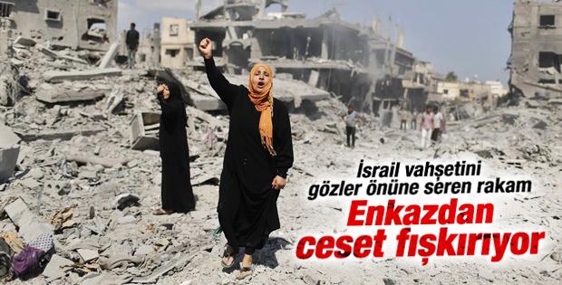 Filistin hükümeti: Enkazdan 85 ceset çıktı
