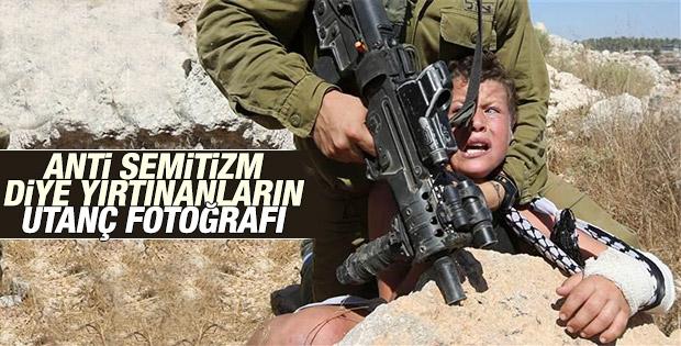 İsrail askeri Filistinli çocuğa şiddet uyguladı
