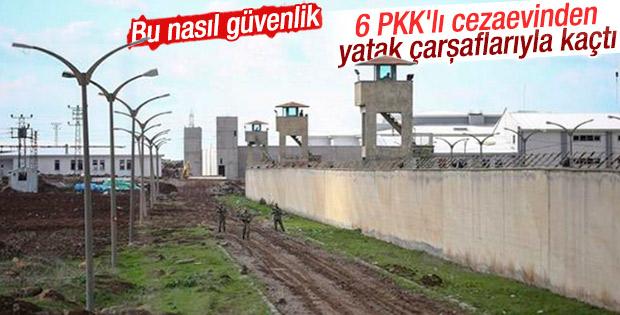 6 PKK'lı cezaevinden çarşafla firar etti
