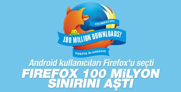 Firefox 100 milyon sınırını aştı