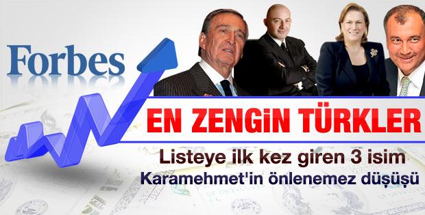 Forbes'un en zengin 100 Türk listesi