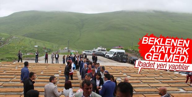 Ardahan'daki Atatürk silüetine bulut engeli