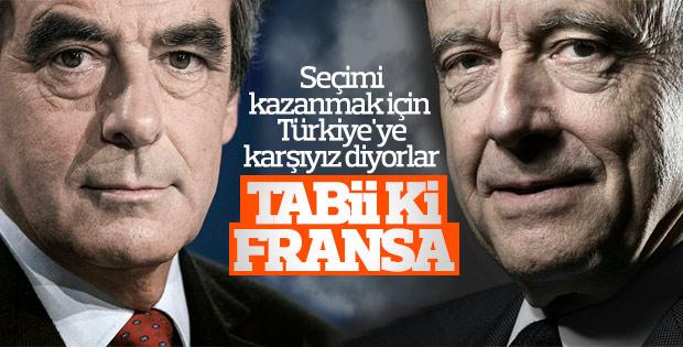 Fransa'da sağın cumhurbaşkanı adayları Türkiye karşıtı