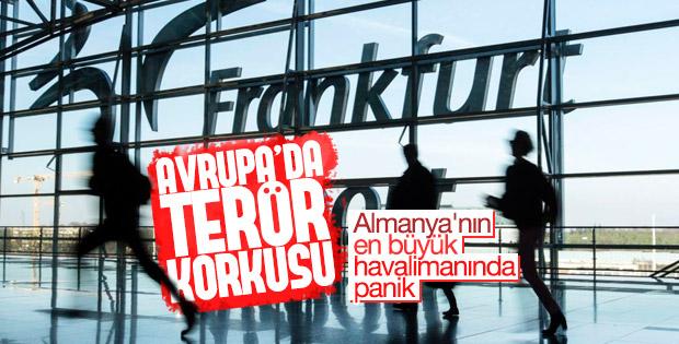 Frankfurt havalimanında terör paniği