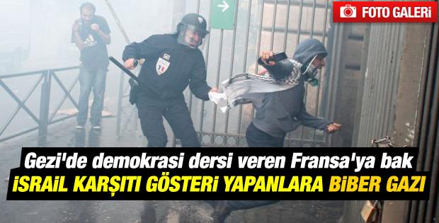 Fransa'da İsrail protestolarına polisten sert müdahale