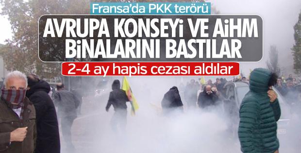 AİHM'e saldıran PKK yandaşlarına hapis cezası