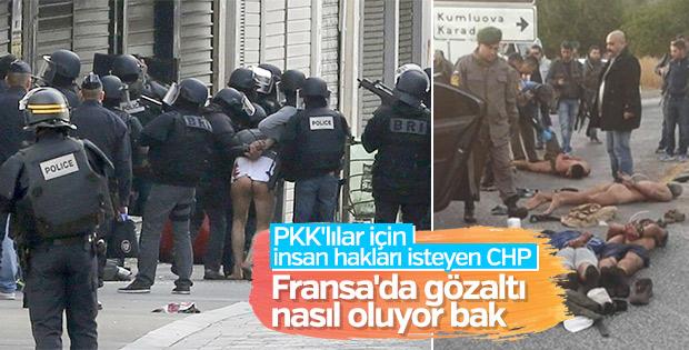 CHP ve HDP'lilerin görmek istemediği gözaltı fotoğrafı