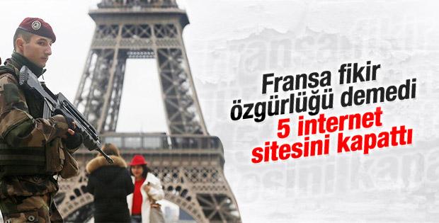 Fransa beş siteyi mahkeme kararı olmaksızın kapattı