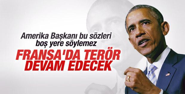 Obama'dan Fransa'ya terör uyarısı