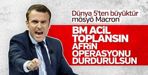 Fransa, Zeytin Dalı Harekatı'ndan rahatsız oldu