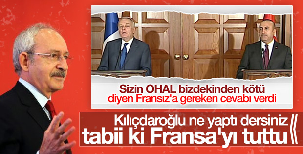 Kılıçdaroğlu Fransa'daki OHAL'i savundu
